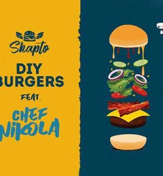 илюстрация на слоевете продукти скапто бургер