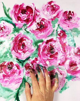 Рисуване с пръсти