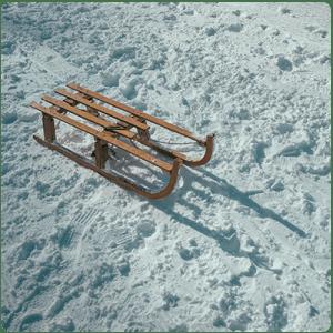 Шейна-върху-снежна пътека