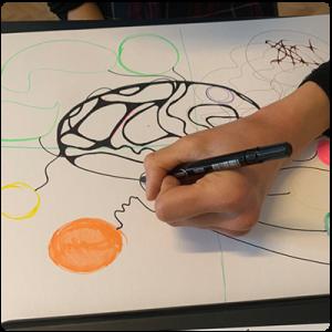Първи етап на рисуване на неорографика