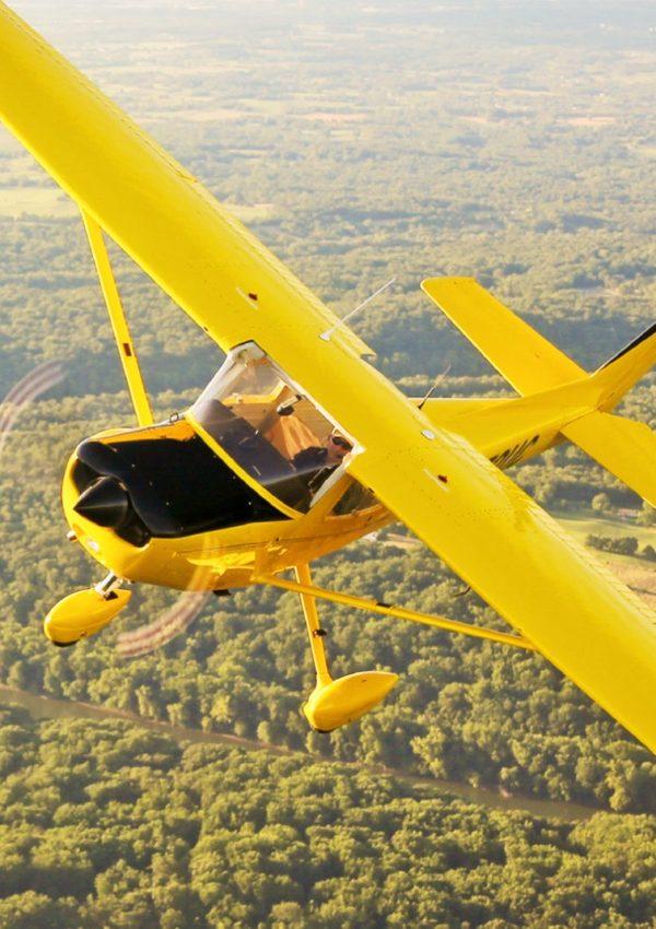 полет урок с двуместен самолет